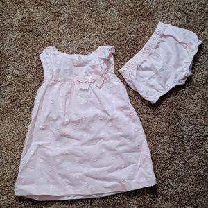 Pastel pink cotton dress